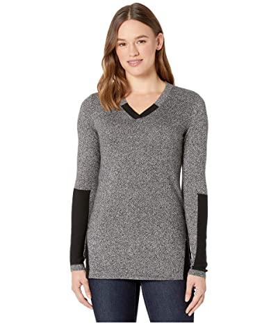 Smartwool Shadow Pine Tunic Sweater (Black/Moonbeam Marl) Women