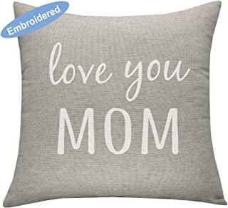 YugTex Cushion Cover love you mom Pillow Cover, pillowcase mothers day, cushion Cover mom and me, mothers day gift-mom and son, mothers day gift from son