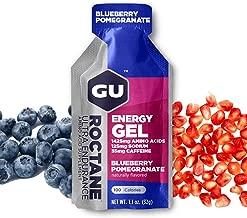 GU Energy Roctane Ultra Endurance Energy Gel, Blueberry Pomegranate, 24-Count
