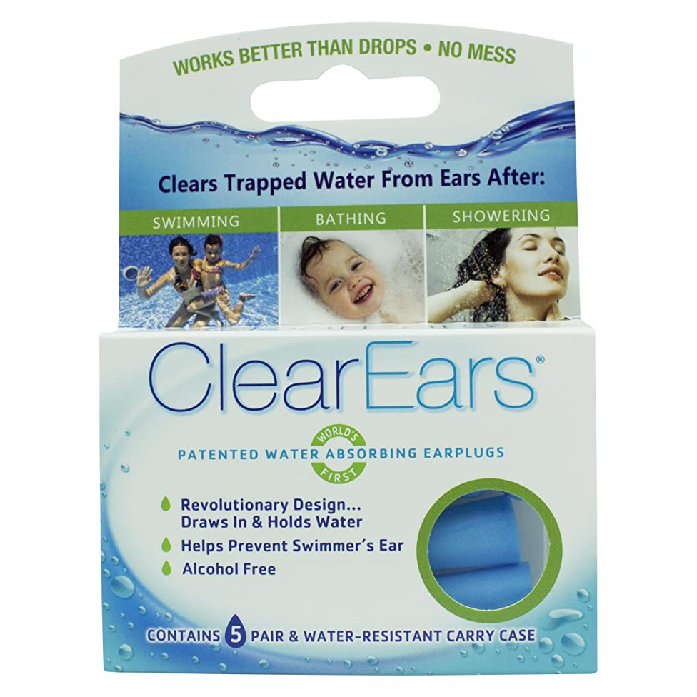 ClearEars? Water Removing Earplugs 10 Count