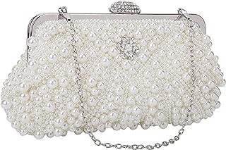 UBORSE Women Noble Crystal Beaded Evening Bag Wedding Clutch Purse
