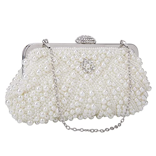 ad63592c984 UBORSE Women Noble Crystal Beaded Evening Bag Wedding Clutch Purse
