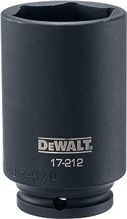 DEWALT Deep Impact Socket, SAE, 1/2-Inch Drive, 1-5/8-Inch (DWMT17212B)