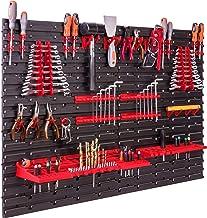 Opslagsysteem, wandrek, 115 x 78 cm, gereedschapshouders, opbergkast, extra sterke wandplaten, uitbreidbaar, werkplaatsre...