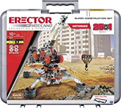 Erector by Meccano Super Construction 25-in-1 Motorized Building Set, STEM Education Toy for Ages 10 and Up