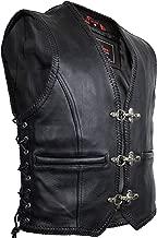 MDM B/üffel Nubuklederweste mit Kordeln und Aufgesetzten Taschen