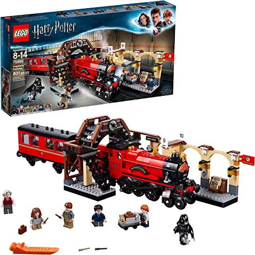 LEGO Harry Potter Hogwarts Express 75955 Toy Train Building Set Includes Model Train and Harry Potter Minifigures Her...