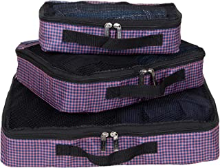 3-Piece Packing Travel Organizer Cubes - (Small/Medium/Large) Lightweight Luggage Packing Cube Set With Design Prints