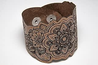 laser cut leather cuff bracelets
