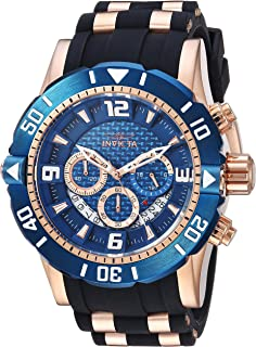 Invicta Men's Pro Diver Stainless Steel Quartz Diving Watch with Polyurethane Strap, Two Tone, 24 (Model: 23713)