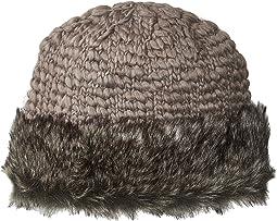 San Diego Hat Company - Knit Crochet Beanie w/ Faux Fur Cuff
