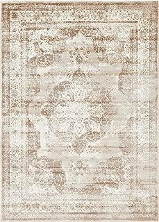 Unique Loom Sofia Collection Traditional Vintage Beige Area Rug (7' x 10')