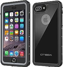 OTBBA iPhone 7 Plus/8 Plus Waterproof Case, Underwater Snowproof Dirtproof Shockproof IP68 Certified with Touch ID Full Sealed Cover Waterproof Case for iPhone 7 Plus/8 Plus-5.5in (Black)