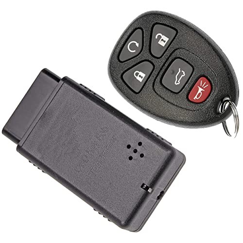 APDTY 121923 Keyless Entry Remote Transponder Key Fob w/Auto Programming Tool (Fits Models With Auto Start Software; Replaces GM 15913415, 20869053, 20869963, 20952477, 22756459, 22936101, 22951509)