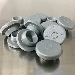 12 Gray Rubber Bottle Stoppers Self Healing Injection Ports for Mason Jar Lids