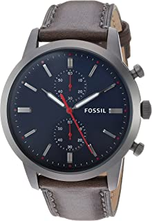 Fossil Townsman 44mm Chronograph Leather Watch