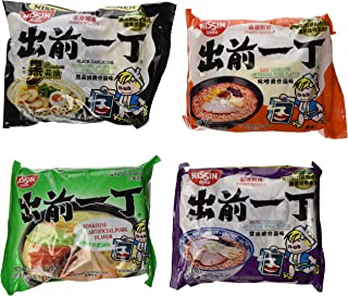 Nissin Demae Ramen Variety Pack (Tonkotsu Series) (Pack of 16 with 4 Each Flavor)