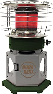 Dura Heat 360 Degree Instant Radiant Double Tank Portable Indoor Outdoor Propane Heater, 25,000 BTU, Grey/Green