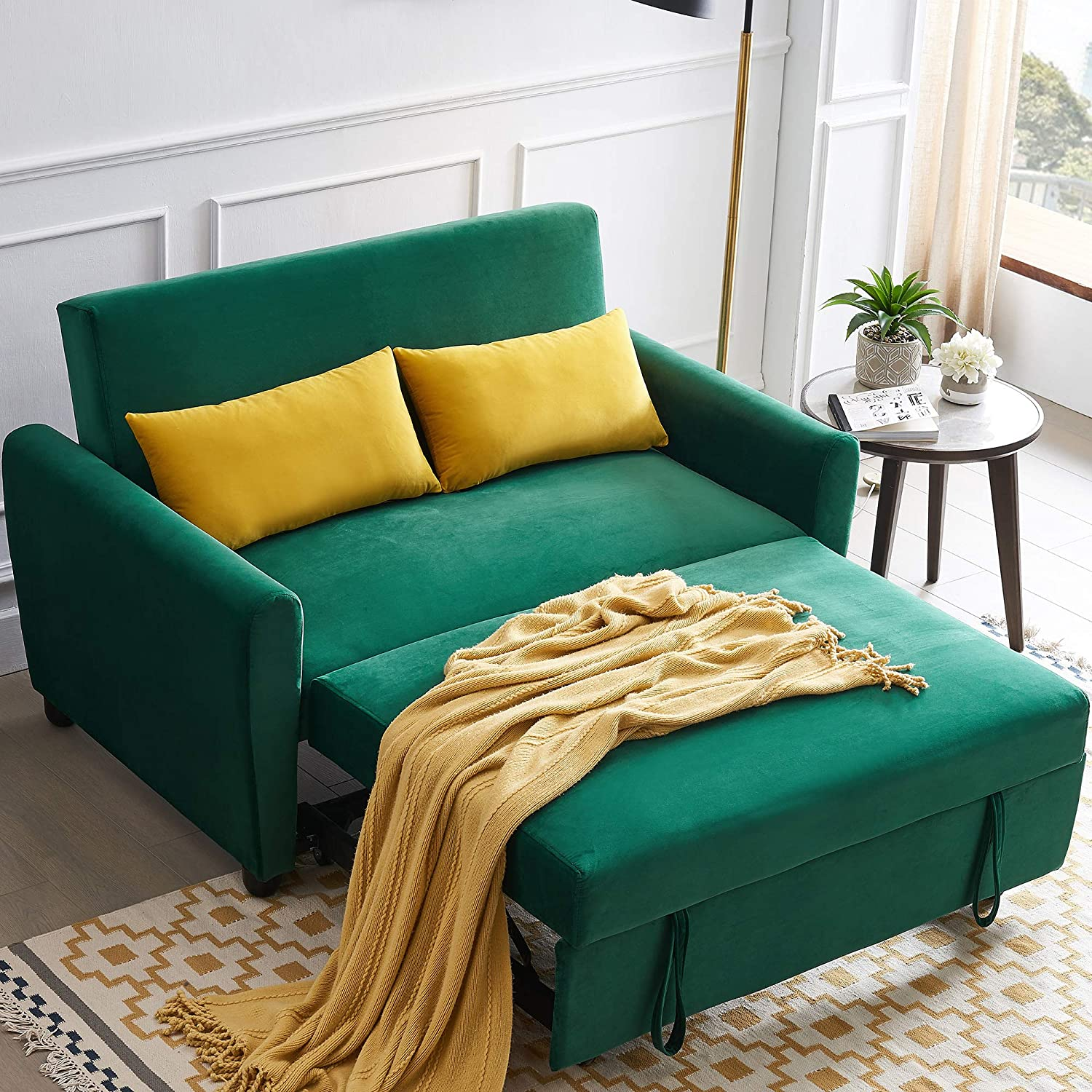 STARTOGOO Max 72% OFF Reversible Sleeper Sectional Sofa with gift Chaise Longue