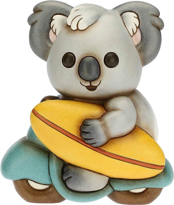 Soprammobile koala con tavola da surf su moto- thun 8018594431010