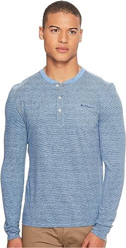 Ben Sherman - Long Sleeve Fine Stripe Jersey Henley