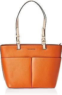 Michael Kors Womens Medium Tz Pocket Tote Handbag, Burnt Orange - 30S9GBFT2L