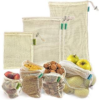 Bolsas reutilizables fruta. 4 bolsas reutilizables compra de