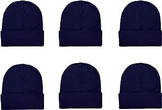 Unisex Knitted Winter Beanie Hat 6 Pcs