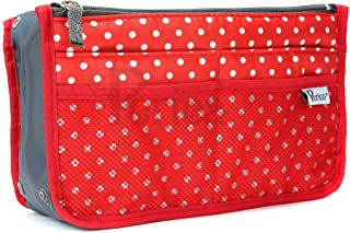 Periea Handbag Organiser - Chelsy - 28 Colours Available - Small, Medium Large (Small, Red with White Polka Dots)