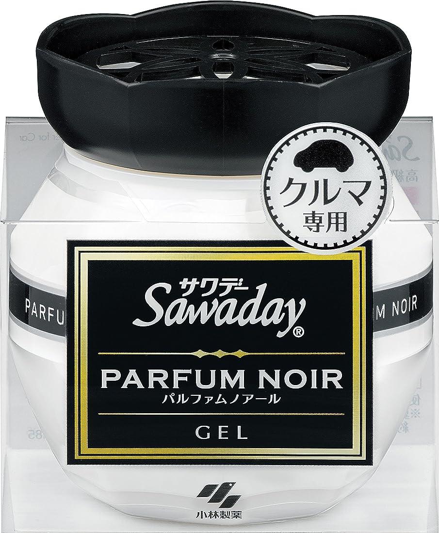 誘惑交差点感謝祭サワデー 消臭芳香剤 クルマ用 置き型ゲルタイプ パルファムノアールの香り 90g