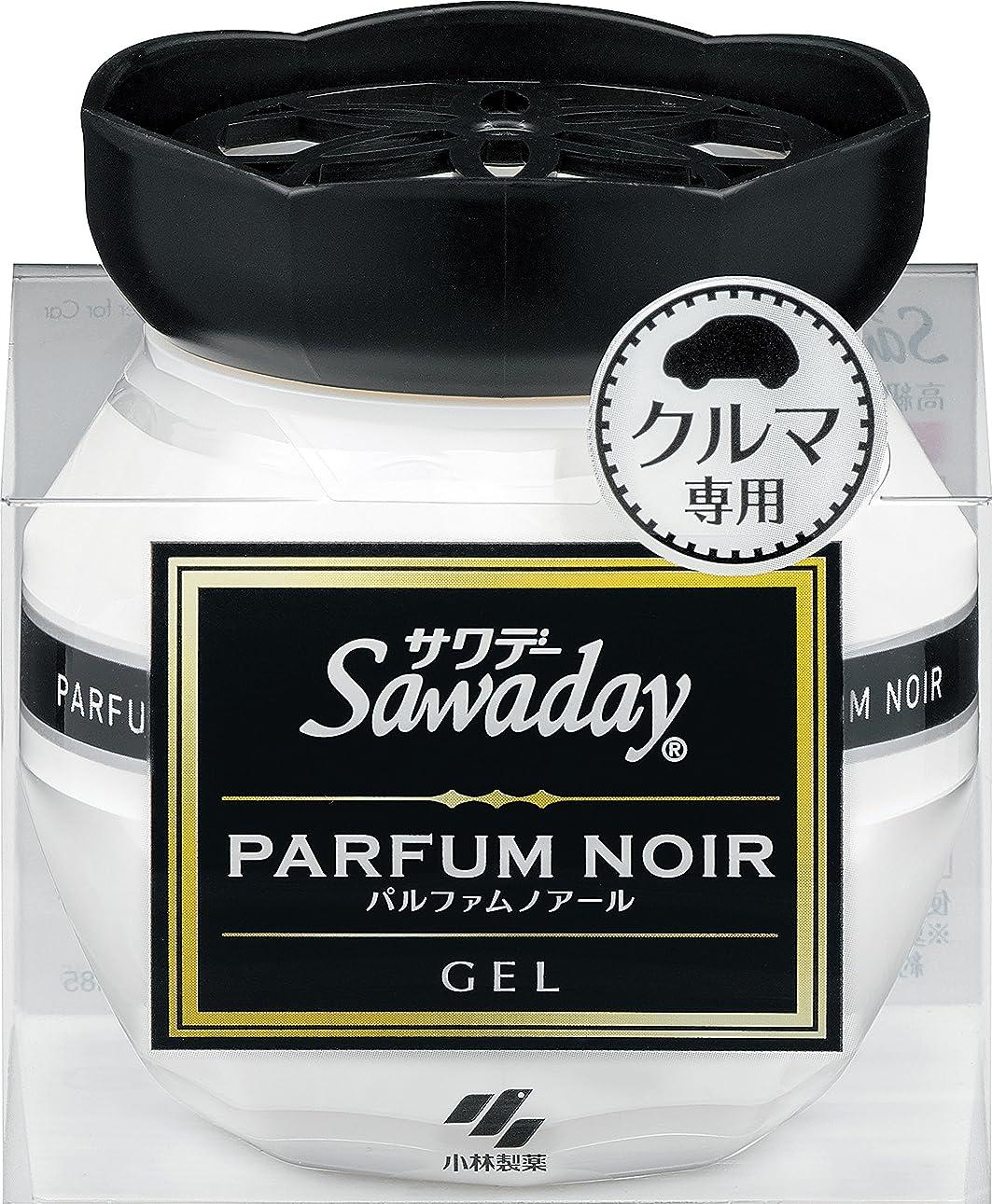 ボックス死にかけているおっとサワデー 消臭芳香剤 クルマ用 置き型ゲルタイプ パルファムノアールの香り 90g