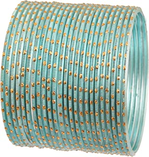 """Touchstone""""Colorful Bangle Collection"""" Indian Bollywood Alloy Metal And Textured Silk Thread Wrist Beautifier Designer Jew..."""
