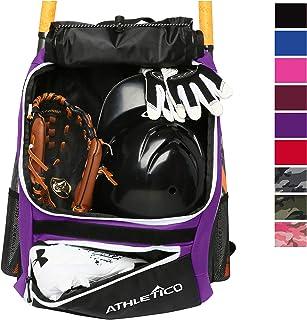 Athletico Baseball Bat Bag – Backpack for Baseball, T-Ball & Softball Equipment..