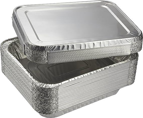 Aluminum Foil Pans - 20-Piece Half-Size Deep Disposable Steam Table Pans with Lids for Baking