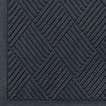 WaterHog Fashion Diamond-Pattern Commercial Grade Entrance Mat, Indoor/Outdoor Medium Brown Floor Mat 6' Length x 4' Width, Charcoal by M+A Matting