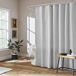 ED Ellen DeGeneres Textured Block Shower Curtain, 72 x 72, Grey