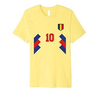 bd32db0cb47 Retro Romania Football Jersey 1994 Romanian Soccer T-Shirt: Amazon.co.uk:  Clothing