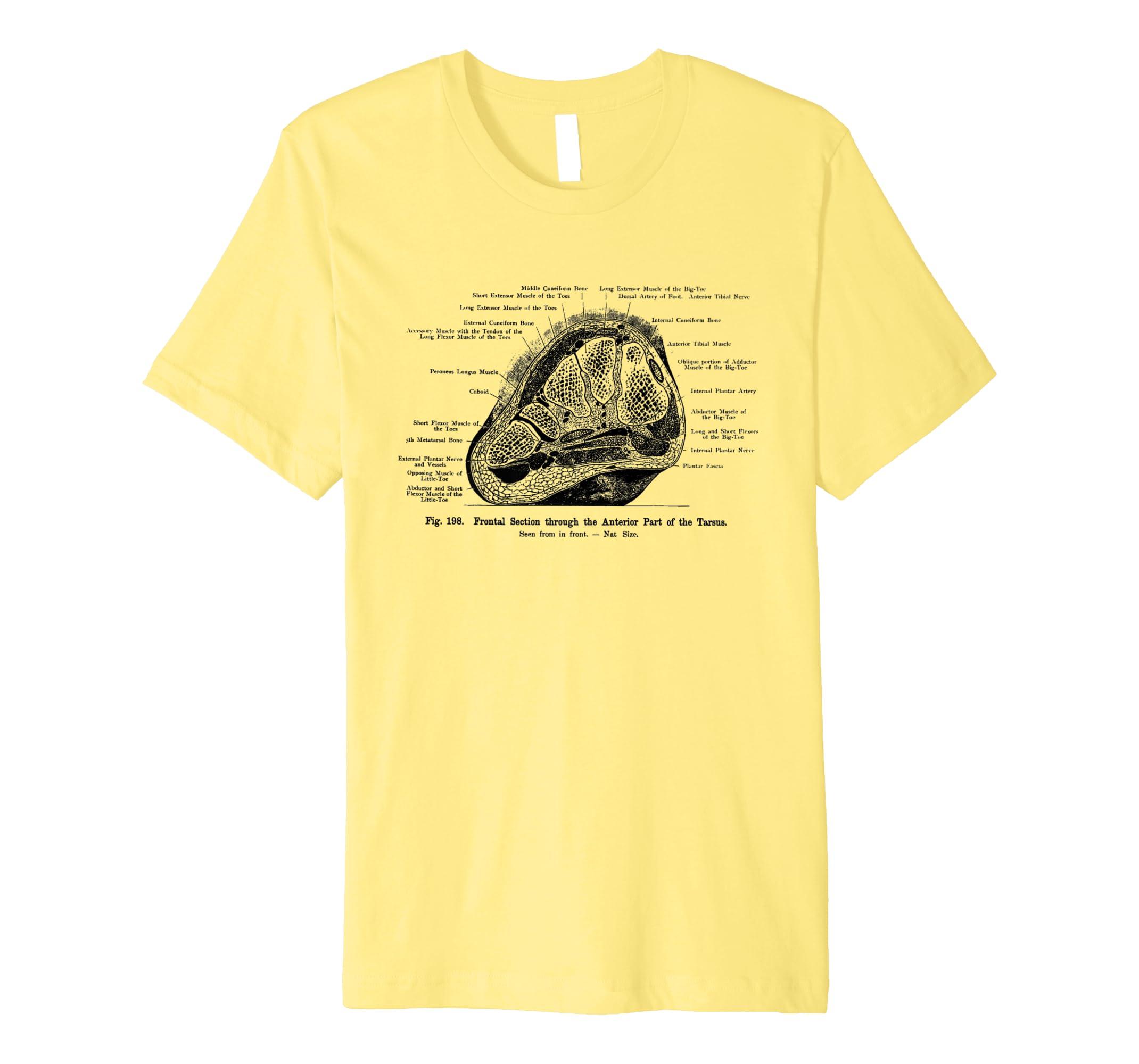 ARTERIA Teil der Tarsus Echthaar Fuß Anatomie Tee T-Shirt: Amazon.de ...