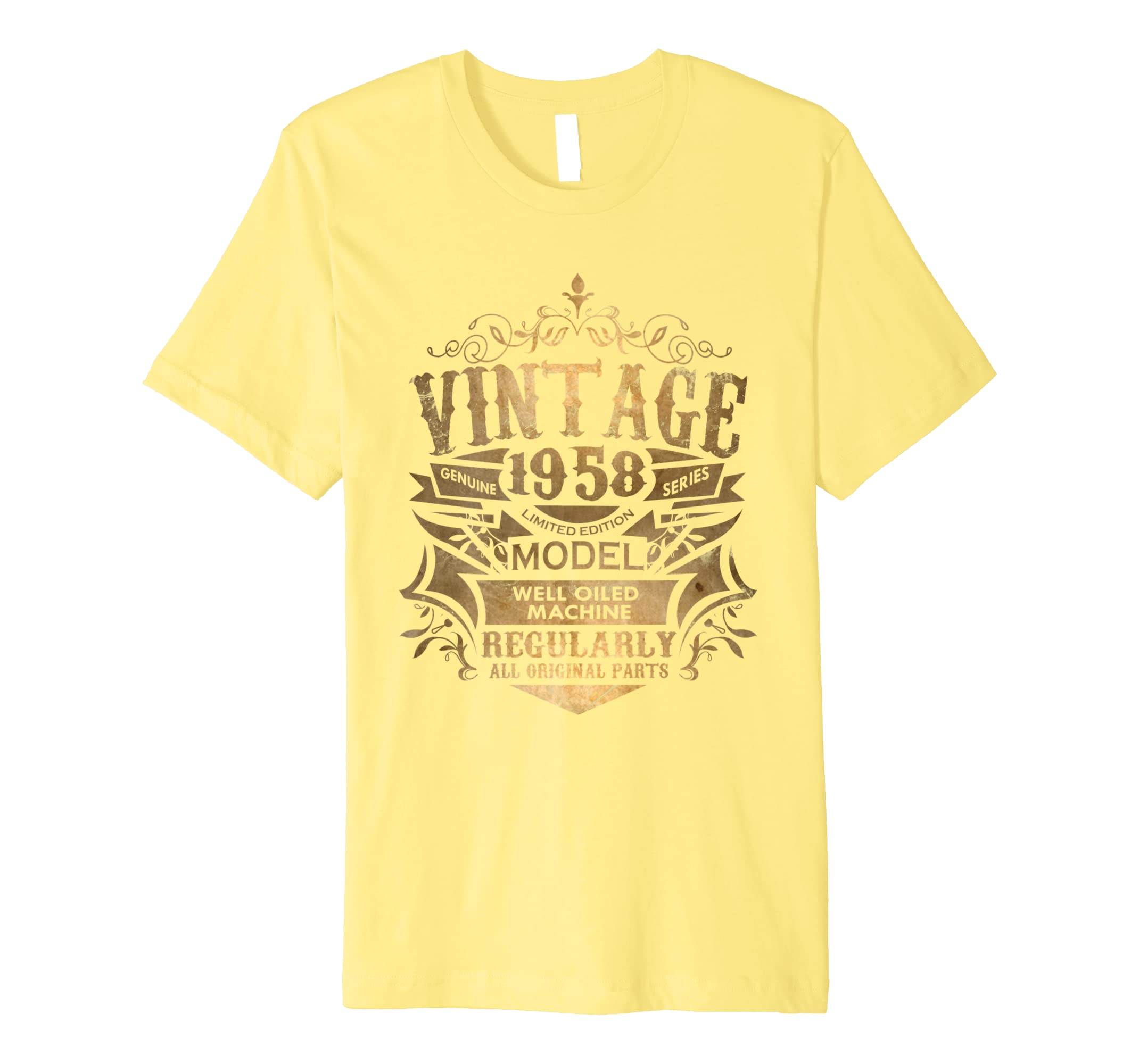 Amazon Vintage 1958 Sixtieth Amazing Birthday Gift Shirt Clothing