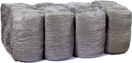 16 Pads Steel Wool, Very Fine No. 0000, Finest Grade, High-Quality Scouring Pad, for Cast Iron, Dishes, Pots, Pans and for All-Purpose.