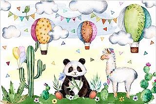 Bilderwelten Papier peint intissé - Panda and Lama watercolor - Mural Large papier peint photo intissé tableau mural photo 3D mural, Dimension HxL: 255cm x 384cm