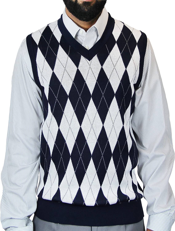 Blue Ocean Argyle Jacquard Sweater Vest