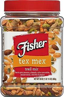 Fisher Snack Tex Mex Trail Mix, 30 Ounce, Hot & Spicy Peanuts, Almonds, Salsa Corn Sticks, Sesame Sticks, Chili Bits, Pepitas