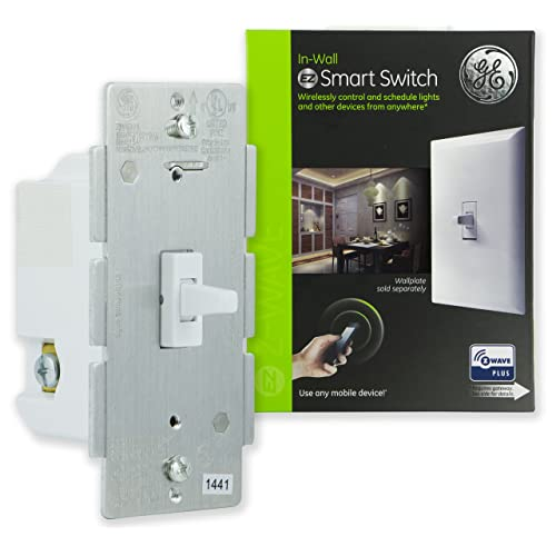 GE Enbrighten Z-Wave Plus Smart Toggle Light Switch, On/Off Control,