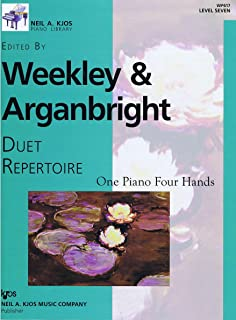 Weekley & Arganbright Duet Repertoire - One Piano Four Hands Level 7