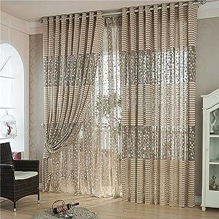 Kolylong Rideaux Fenêtre Salon Design Moderne Arbre Feuille, 200 X 100 Cm