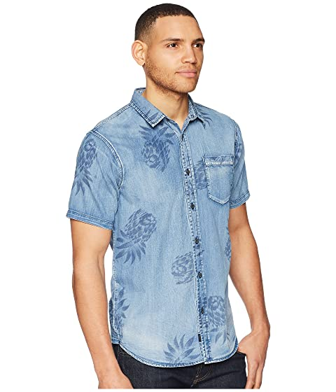 Globe Graves Short Sleeve Shirt Washed Denim Cheap Extremely 6Kl2Hs224