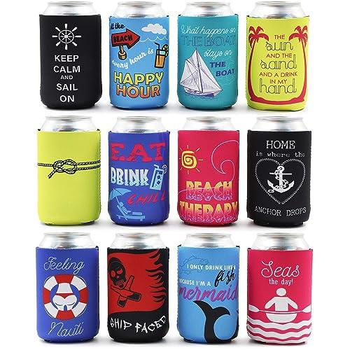 10 Random Neoprene Koozie Lot Coolie Soda Beer Can Coolers Unique Funny New