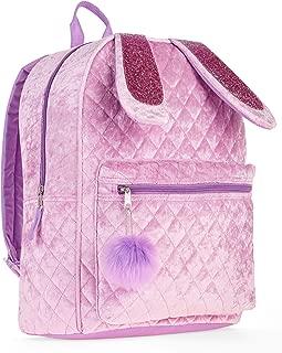 Bunny Quilted Velvet Critter Backpack