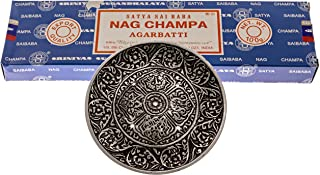 Alternative Imagination 100 Gram Nag Champa with Incense Holder (Tibetan Incense Burner)